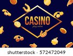 777 slots 3d element isolated... | Shutterstock .eps vector #572472049