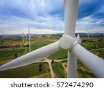 wind turbine from aerial view   ... | Shutterstock . vector #572474290