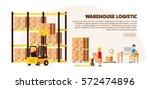 warehouse logistic background... | Shutterstock .eps vector #572474896