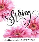 gerbera flower background and... | Shutterstock .eps vector #572475778