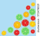 citrus background | Shutterstock .eps vector #572478019