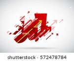abstract red arrows background... | Shutterstock .eps vector #572478784