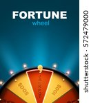 wheel of fortune 3d object... | Shutterstock .eps vector #572479000