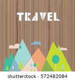travel card with nature and... | Shutterstock .eps vector #572482084