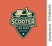 scooter rental emblem....   Shutterstock .eps vector #572482633