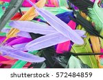 beautiful rainbow color colored ...   Shutterstock . vector #572484859