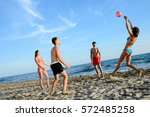 four young people man and woman ...   Shutterstock . vector #572485258