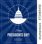 presidents day greeting banner... | Shutterstock .eps vector #572485450