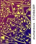 ethnic triangles. vector... | Shutterstock .eps vector #572486389