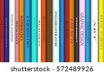 book spines with different...   Shutterstock .eps vector #572489926