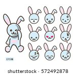 set vector stock illustrations... | Shutterstock .eps vector #572492878