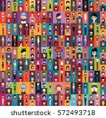 large set of people avatar  ... | Shutterstock .eps vector #572493718