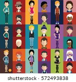 people avatar   with full body... | Shutterstock .eps vector #572493838