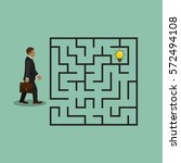 businessman in labyrinth search ... | Shutterstock .eps vector #572494108