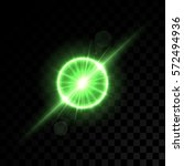 Vector Golden Green Lights On...