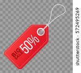realistic discount red tag... | Shutterstock .eps vector #572495269