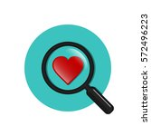 search heart and love circle... | Shutterstock .eps vector #572496223