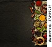 fresh delicious ingredients for ... | Shutterstock . vector #572499259