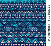 blue color tribal vector... | Shutterstock .eps vector #572500198