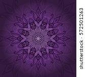 vector mandala card. mandala... | Shutterstock .eps vector #572501263