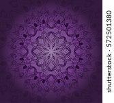 vector mandala card. mandala... | Shutterstock .eps vector #572501380