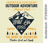 mountain explorer  national... | Shutterstock .eps vector #572502034