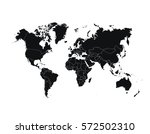 political world map vector... | Shutterstock .eps vector #572502310