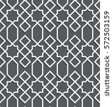 islamic black and white pattern.... | Shutterstock .eps vector #572503159