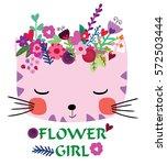 cute cat | Shutterstock .eps vector #572503444