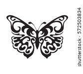 graphic icon of butterfly.... | Shutterstock .eps vector #572503834