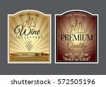 set of labels for wine. vector...   Shutterstock .eps vector #572505196