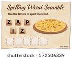 spelling word scramble game... | Shutterstock .eps vector #572506339