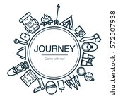 journey card. background with...   Shutterstock .eps vector #572507938