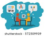 hr recruitment  human resource  ... | Shutterstock .eps vector #572509939