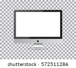 monitor pc realistic with a... | Shutterstock .eps vector #572511286