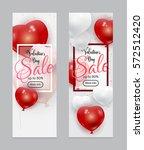 vector set of valentines day... | Shutterstock .eps vector #572512420