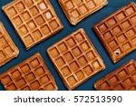 belgian waffles texture | Shutterstock . vector #572513590