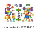 vector illustration aztec cacao ... | Shutterstock .eps vector #572518918