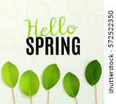 hello spring. vector... | Shutterstock .eps vector #572522350
