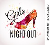 girls night out party design.... | Shutterstock .eps vector #572522380