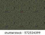 raster seamless floral pattern... | Shutterstock . vector #572524399