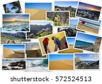 sights of gran canaria in... | Shutterstock . vector #572524513