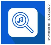 find music vector icon | Shutterstock .eps vector #572526370