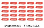 isolated shopping tags set. red ... | Shutterstock .eps vector #572527666