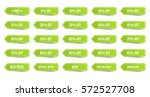 isolated shopping tags set.... | Shutterstock .eps vector #572527708