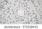 3d rendering circular maze in... | Shutterstock . vector #572528413