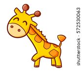 funny and cute giraffe smiling  ... | Shutterstock .eps vector #572530063