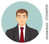 businessman avatar. man in suit ... | Shutterstock .eps vector #572530939