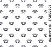 seamless pattern with hipster... | Shutterstock .eps vector #572531308