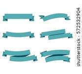 blue ribbons set. vector... | Shutterstock .eps vector #572532904